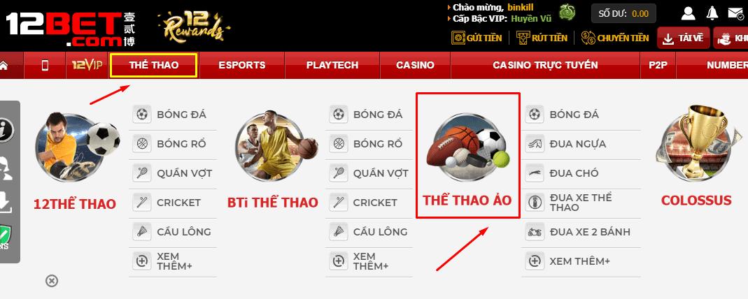 cách chơi cá cược bóng đá ảo tại 12bet
