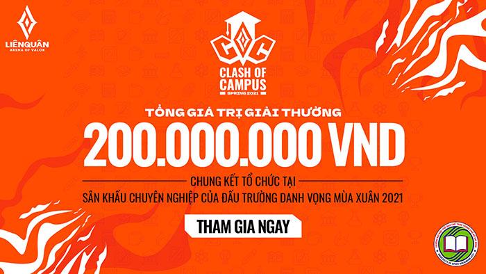 Liên Quân Mobile mở đăng ký giải đấu Clash of Campus với tổng giải thưởng lên đến 200 triệu